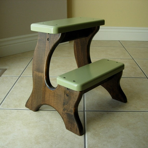 Items Similar To Step Stool Wooden Wood Alder Stained