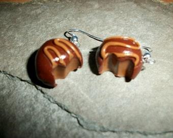 Sweet Treat Peanut Butter  Truffle Earrings