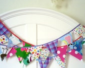 SALE Fruit Punch Fabric Bunting Decoration 9'