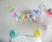 Bubble Gum Fun Fabric Cake Bunting Decoration
