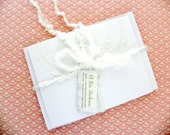 12 Lace Paper Doily Appliqued Note Card Set Blank Wedding Thank You / Stationary Set / Wedding Stationary