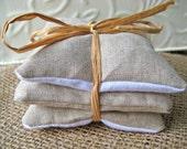 Naturals - Lovely Linen Lavender Sachets - Set of 3
