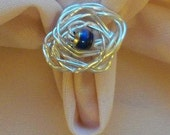 Twisted Mood Ring handcrafted - size 6.5