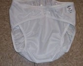 White adult diaper cover U Pick size  Dries SUPER fast