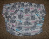 NEW - cute baby elephant  - adult diaper cover - U pick size