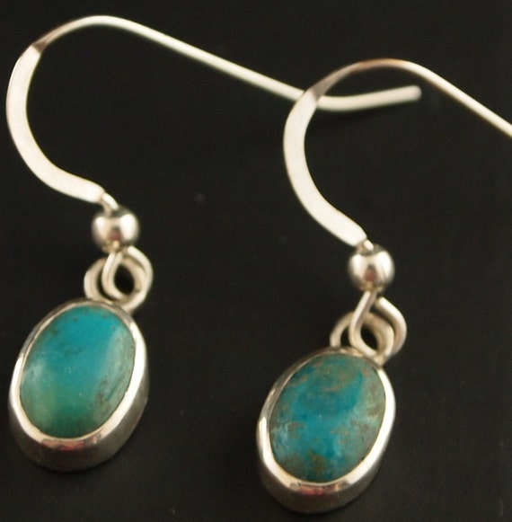 Sterling Silver and Turqouise Drop Earrings