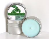Mint and Nettle Soy Candle in 6oz Tin