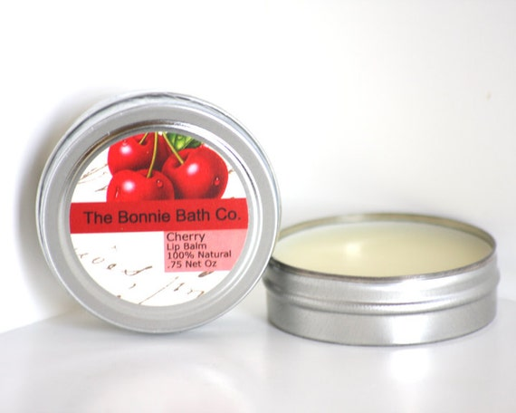 SALE - LARGE Cherry All Natural Lip Balm