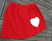 Custom Listing for mikesewell - Corduroy Valentine's Day Skirt with Heart Pocket Size 6