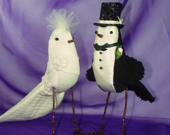 Bride and Groom Birds Wedding Cake Topper