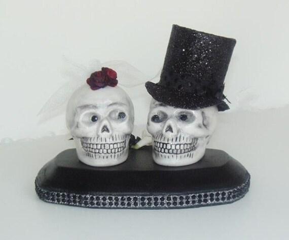 Smiling Skull  Wedding Cake Topper