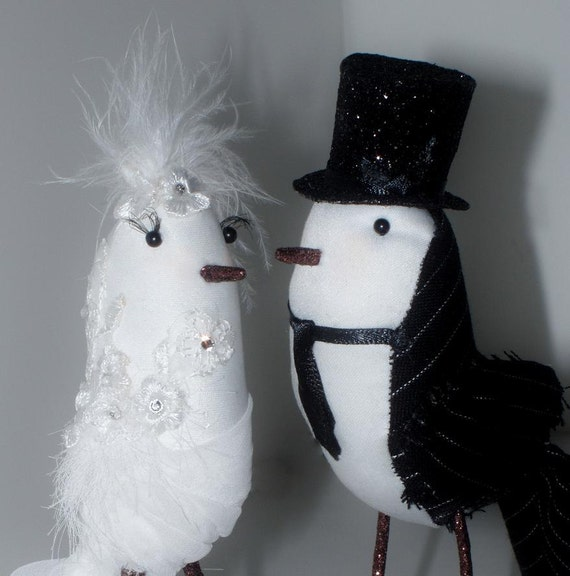 Cake Topper Bride and Groom Birds