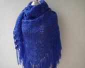 Purple triangle shawl