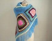 Crochet Fantastic Shawl in Blue