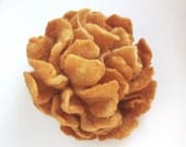 Felt flower brooch -  Brown Carmel Peony Autumn fall under 25