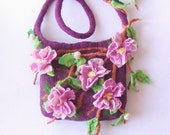 Felted handbag  medium - Cherry flavor