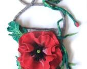 Felted handbag  medium  - Poppy