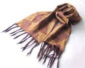 Nuno felted scarf Brown Unisex Men Women