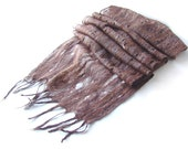 Cobweb felted scarf Brown Multicolor unisex gift for him under 75