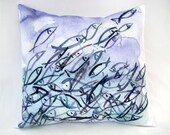 """14"""" x 14"""" School of Fish Pillow : Indoor Outdoor designed by TheJoyOfColor"""