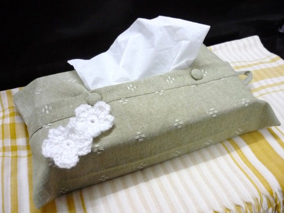 Little Flower Tissue Box Cover with Hang Strap