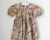 vintage little girl's collared prairie dress 3T