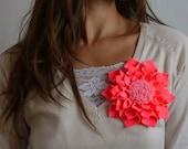Fabric flower tutorial Cool Felt PDF, instructions and print  pattern - felt accessories - easy beginner ebook