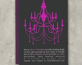 """adult birthday party invitation bachelorette party - """"Turn Out the Lights"""""""