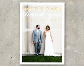 """wedding thank you card """"Love is Chic"""""""