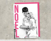 "christmas holiday photo card - ""Noel"""