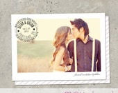 """save the date photo card - """"Postal"""""""