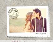 "wedding thank you card photo announcement - ""Postal"""