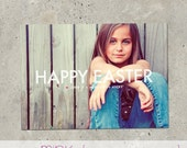 "easter photo card - ""Marquee"""