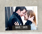 "photo save the date card - ""Notched"""