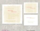 """wedding invitations delicate watercolor - """"Watercolor"""""""