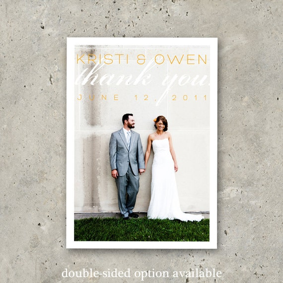"""wedding thank you photo card - """"Love is Chic"""""""