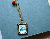 Reserved for weecupoftea - Octopus Frame Necklace