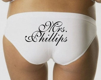 Custom Wedding Panties - Mrs Panties - Bride to Be
