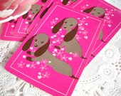 Charming Set of Vintage Playing Cards - Adorable Dachshund Puppy Dogs