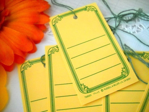 Charming Set of Vintage Inspired Hang Tags - Sweet Orange Spice