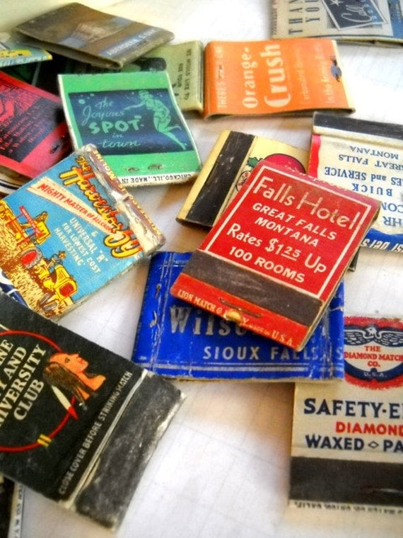 Charming Lot of Old Vintage Matchbooks - Perfect for Scrapbooking