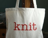 Knit Large Project Tote Bag
