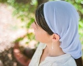 LAST ONE AVAILABLE! Long Prayer Veil -- Elegant Head Cover for Modest Women -- Pastel Blue - SowersofHope