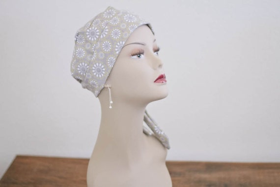 Chemo Hat  -- Cancer Cap for Hair Loss Alopecia --  Scarf  Chemo Scarf