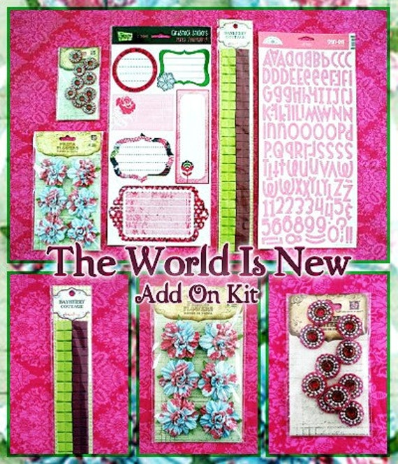 SALE the world is new embellishment add on kit