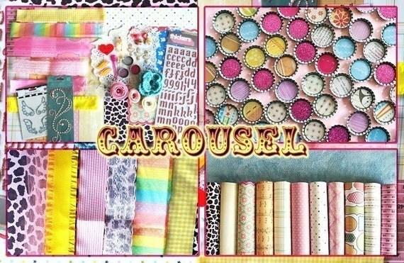 SALE carousel scrapbook kit