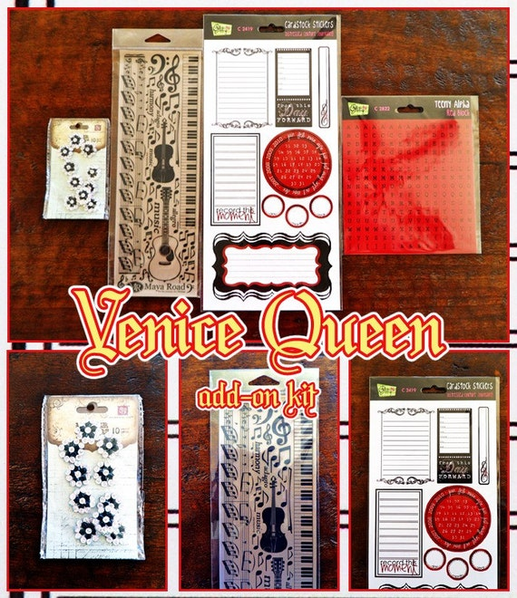 venice queen scrapbook embellishment add on kit
