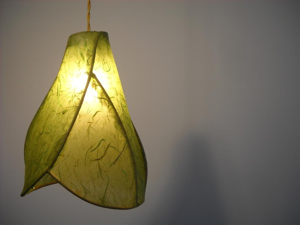 Paper Lantern Pendant Light Copper Sculpture Sculptural