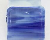 Glass Coasters Blue Six