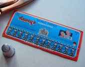 Vintage Hooks and Eyes on Card Sewing Supplies